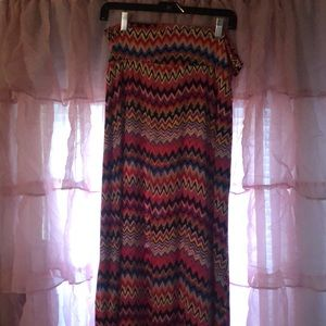 Colorful chevron skirt